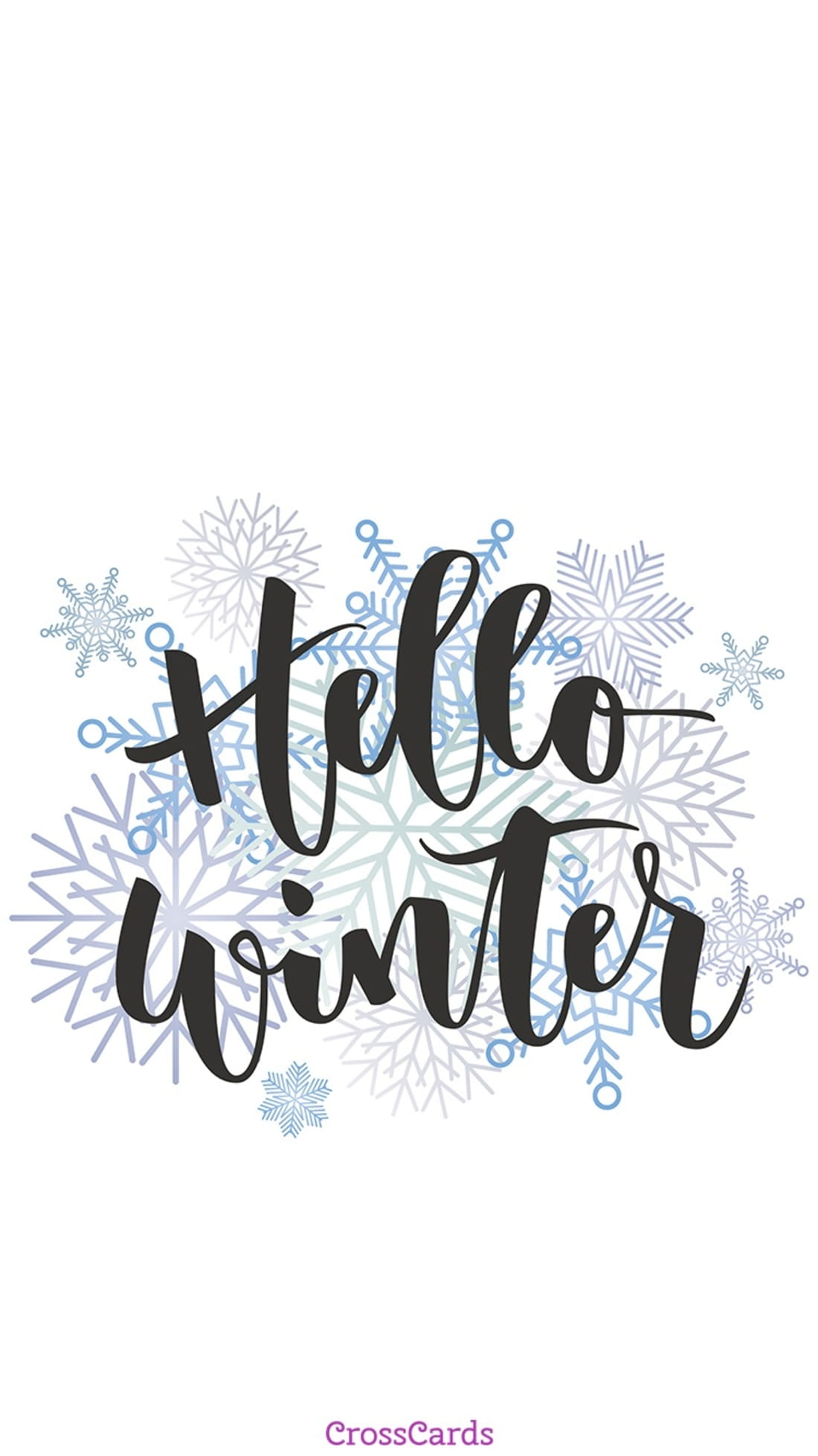 Hello Winter mobile phone wallpaper