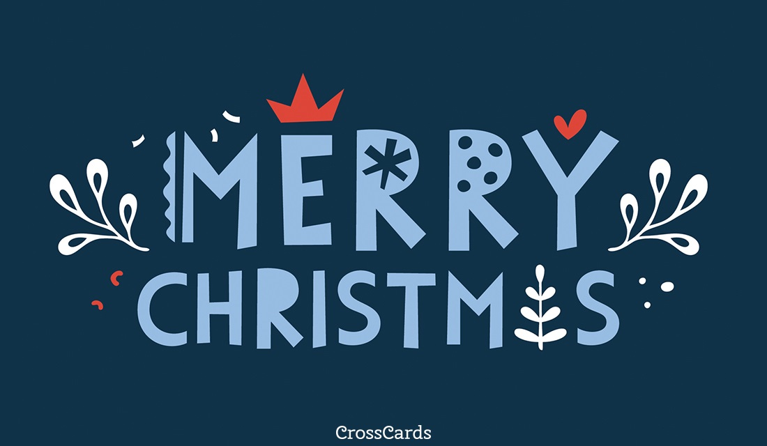 Merry Christmas ecard, online card