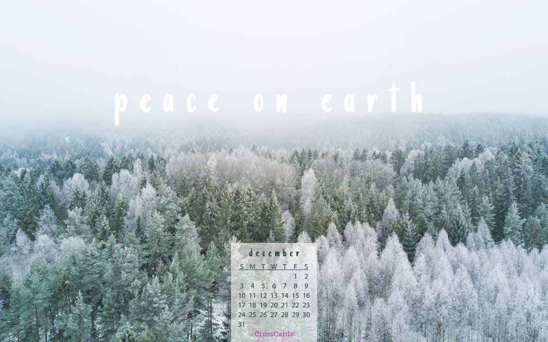 December 2017 - Peace on Earth mobile phone wallpaper