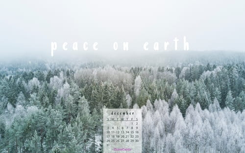 December 2017 - Peace on Earth mobile phone wallpaper