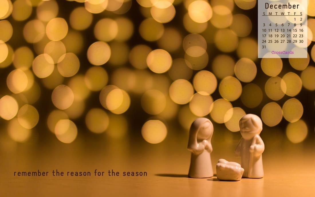 December 2017 - Reason for the Season mobile phone wallpaper