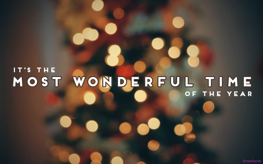 Most Wonderful Time ecard, online card
