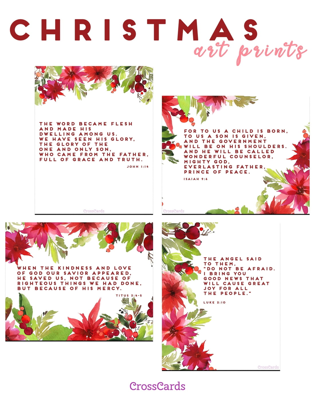 Christmas Art Prints - Free Printable