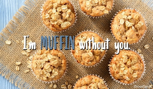 Happy Oatmeal Muffin Day (12/19) ecard, online card