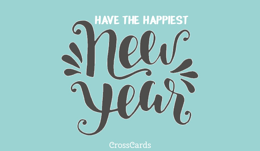 Happiest New Year ecard, online card
