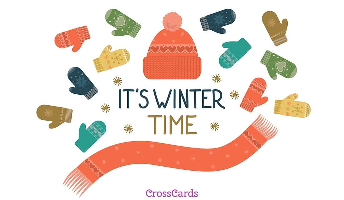 It's Winter Time ecard, online card