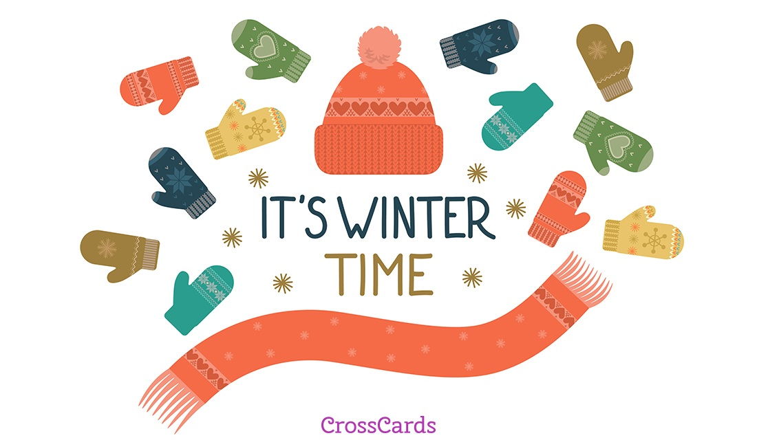 It's Winter Time ecard, online card