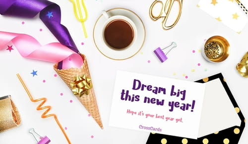 New year ecards celebrate 2018 with free email greeting cards home ecards holidays new year dream big m4hsunfo