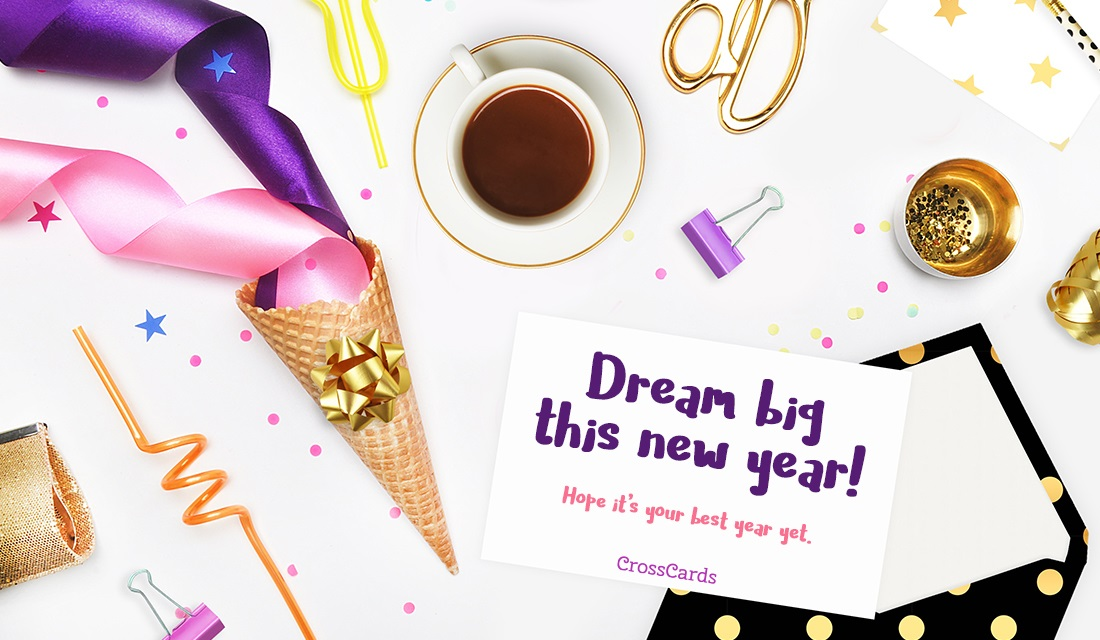 Dream Big ecard, online card
