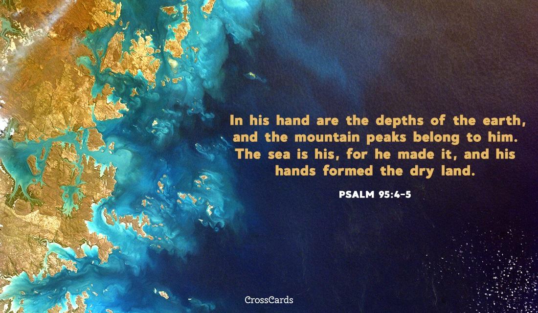 Psalm 95:4-5 ecard, online card