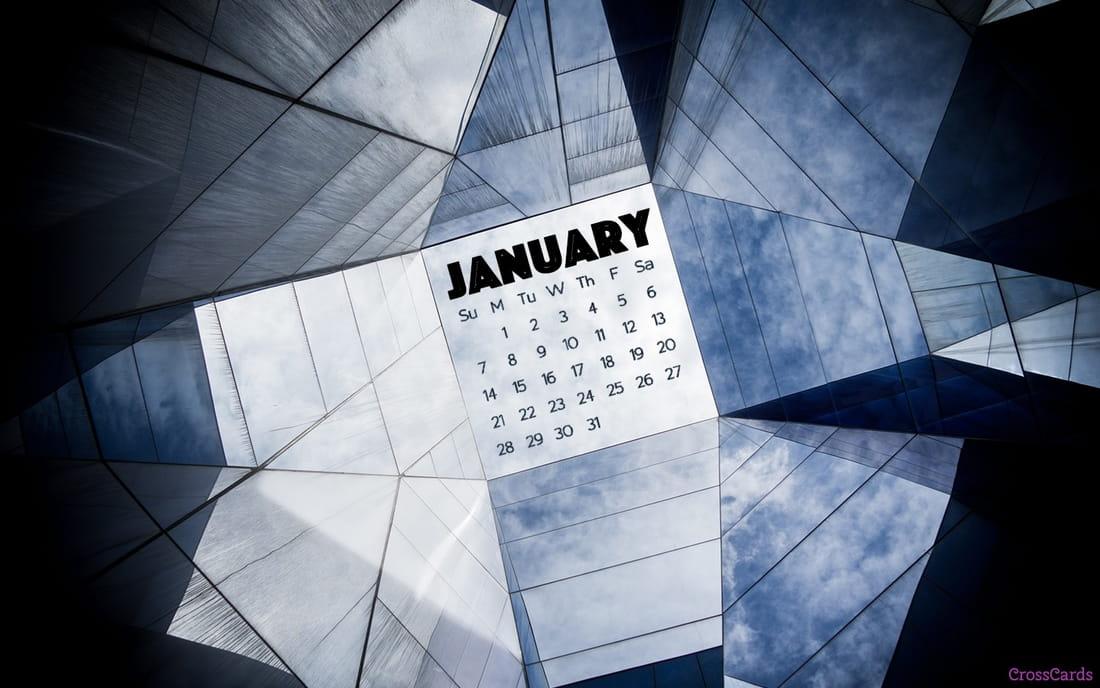 January 2018 - Sky Light mobile phone wallpaper