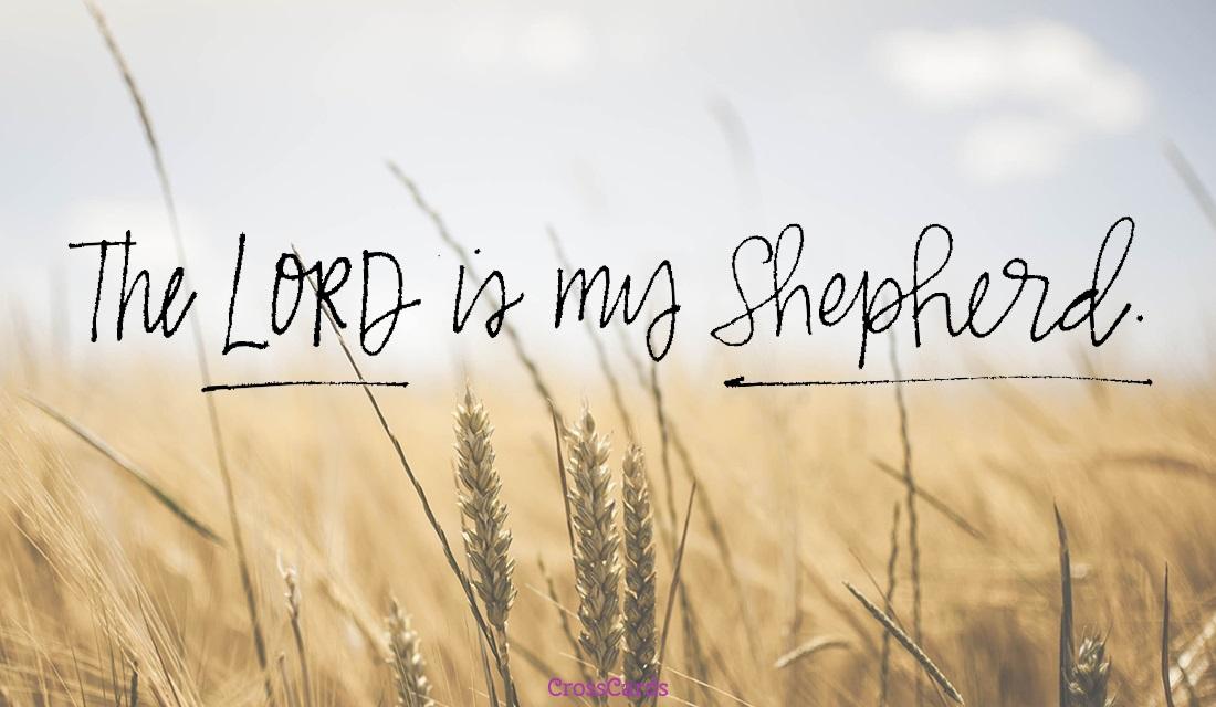 The Lord is my Shepherd ecard, online card