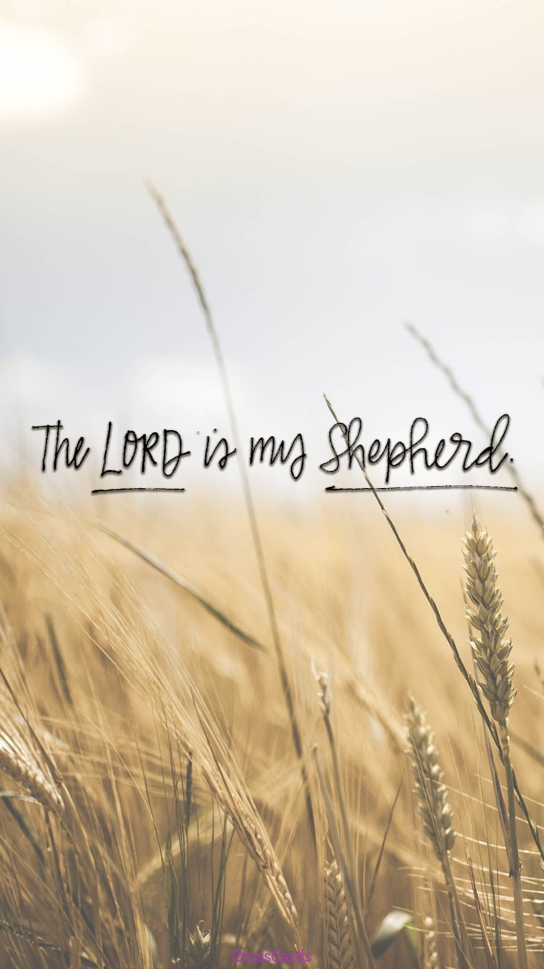 The Lord is my Shepherd mobile phone wallpaper