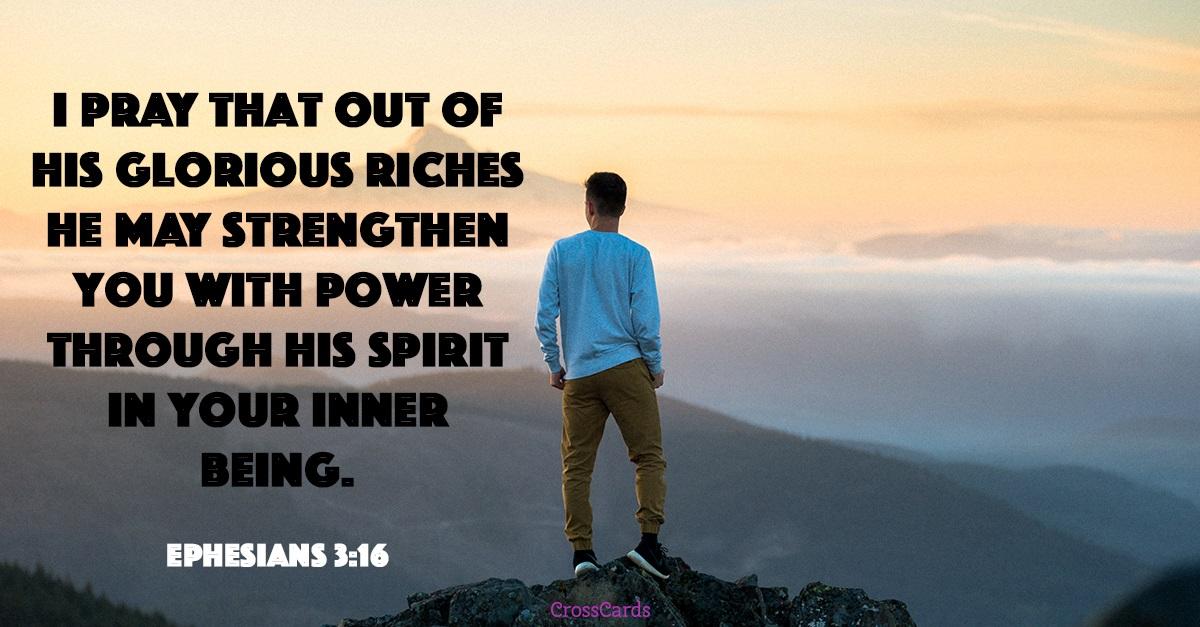 Ephesians 3:16 ecard, online card