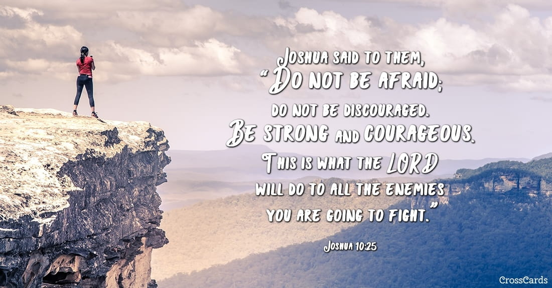 Free Joshua 1025 Do Not Be Afraid ECard EMail Free