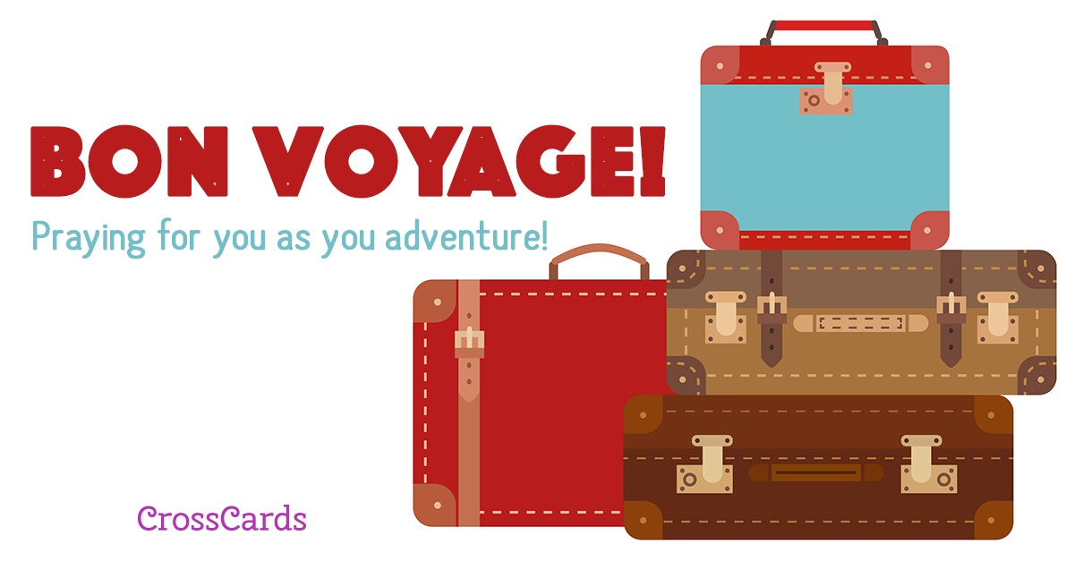 Bon Voyage ecard, online card