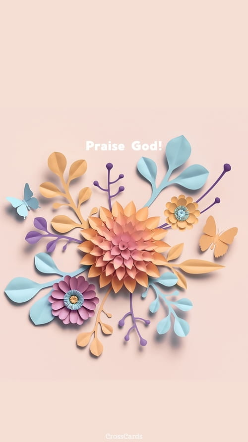 Praise God! mobile phone wallpaper