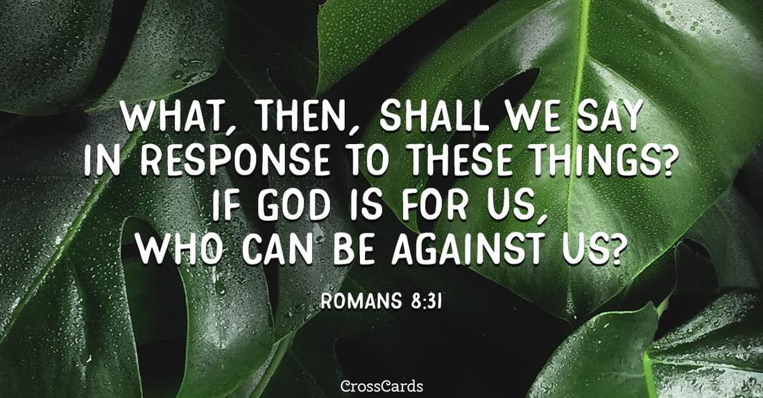 Romans 8:31 ecard, online card