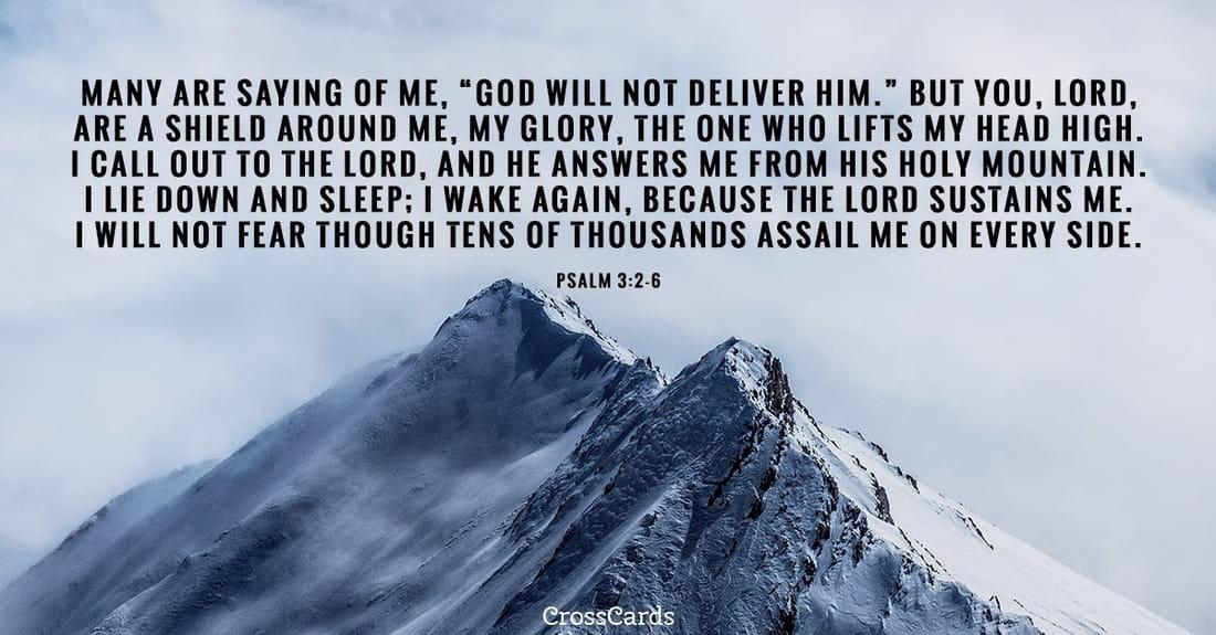 Psalm 3:2-6 ecard, online card