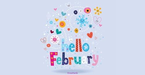 Hello February ecard, online card