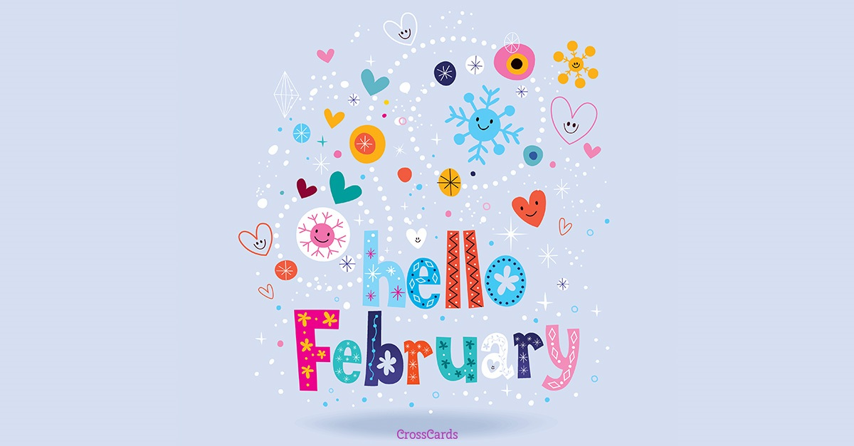 Hello February ecard, online card