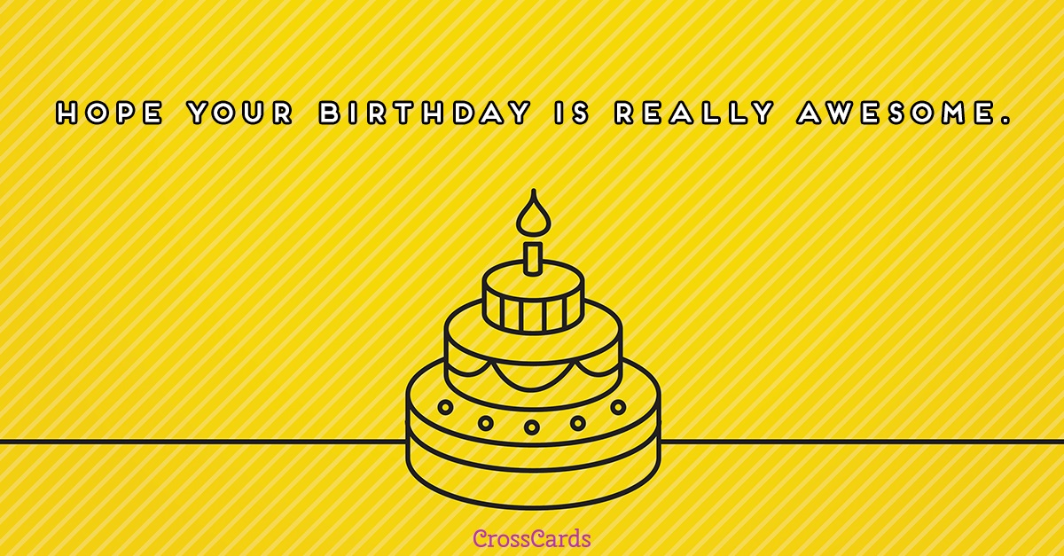 Really Awesome Birthday ecard, online card