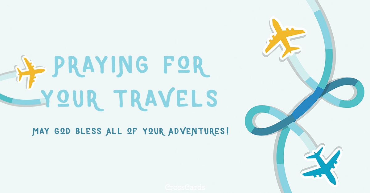 Praying for Your Travels ecard, online card