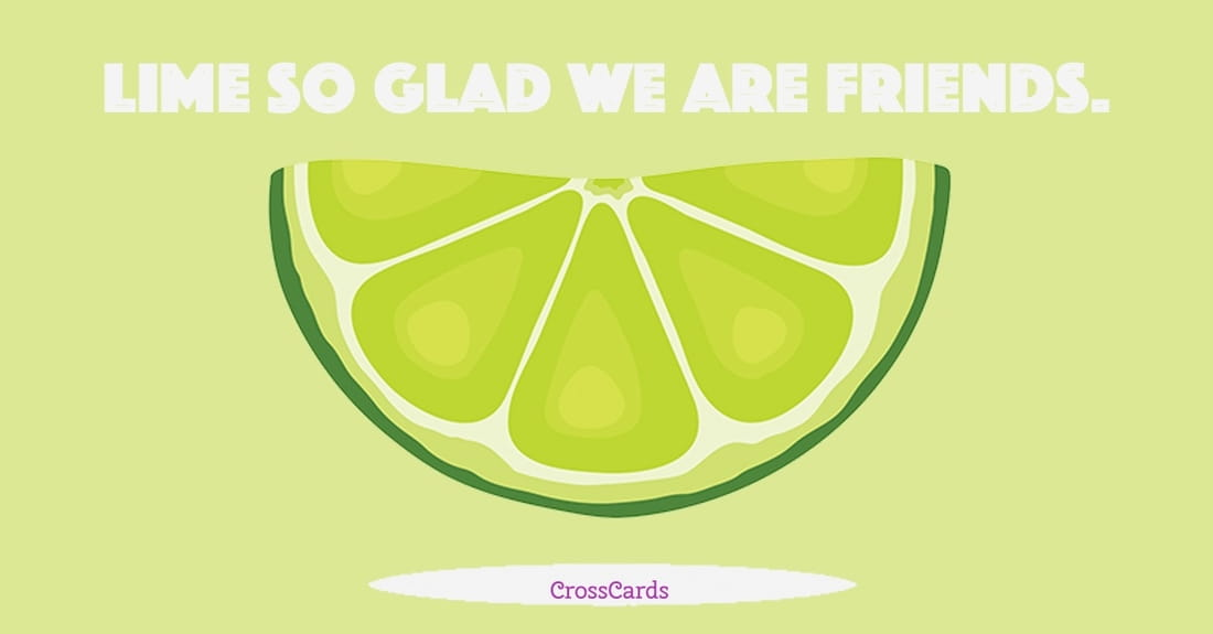 Lime So Glad ecard, online card