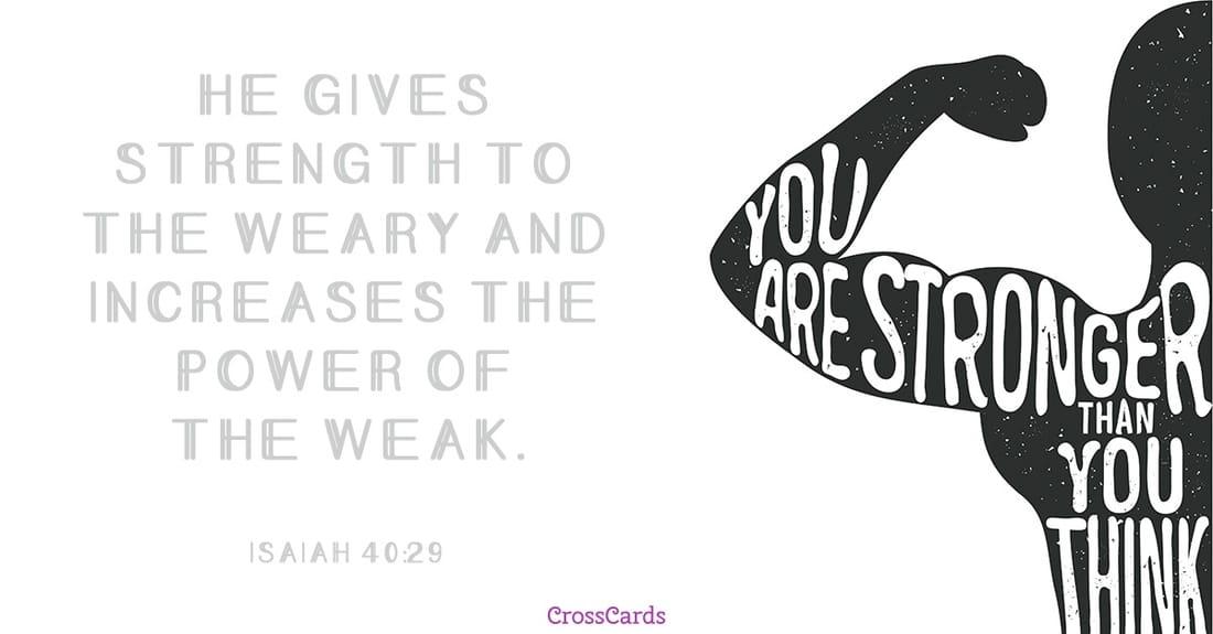 Isaiah 40:29 ecard, online card