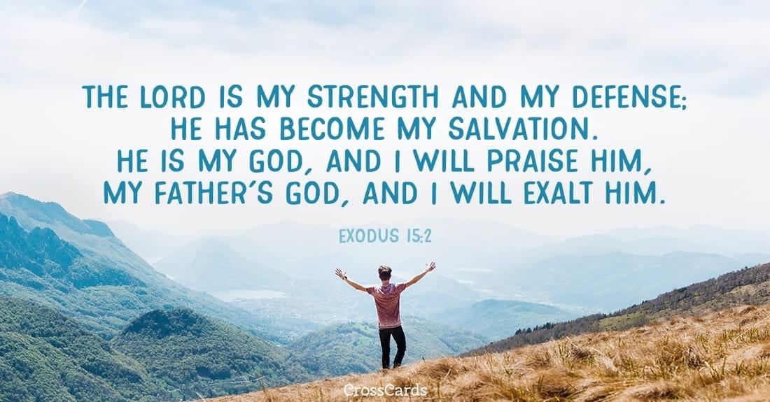 Exodus 15:2 ecard, online card