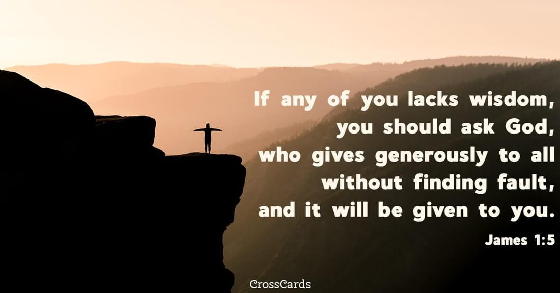 James 1:5 ecard, online card