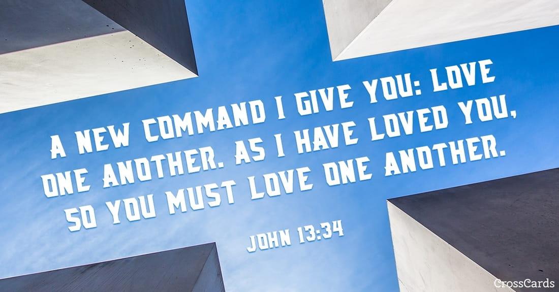 John 13:34 ecard, online card