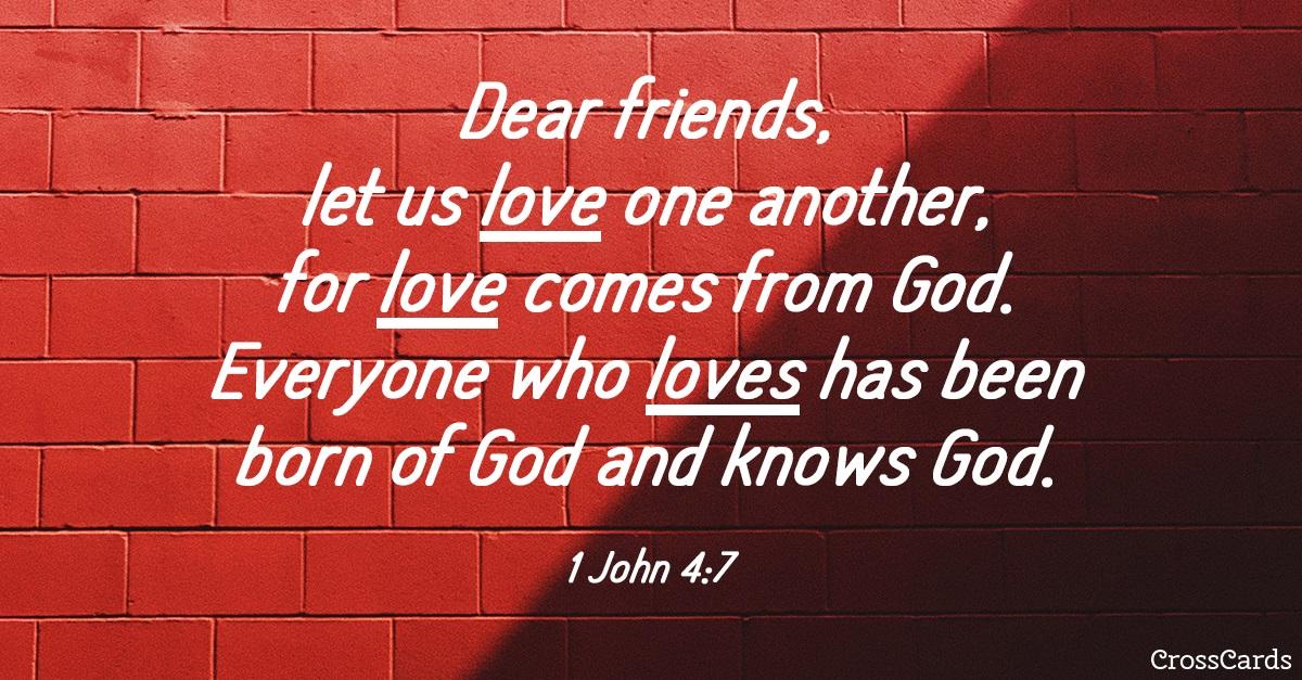 1 John 4:7 ecard, online card