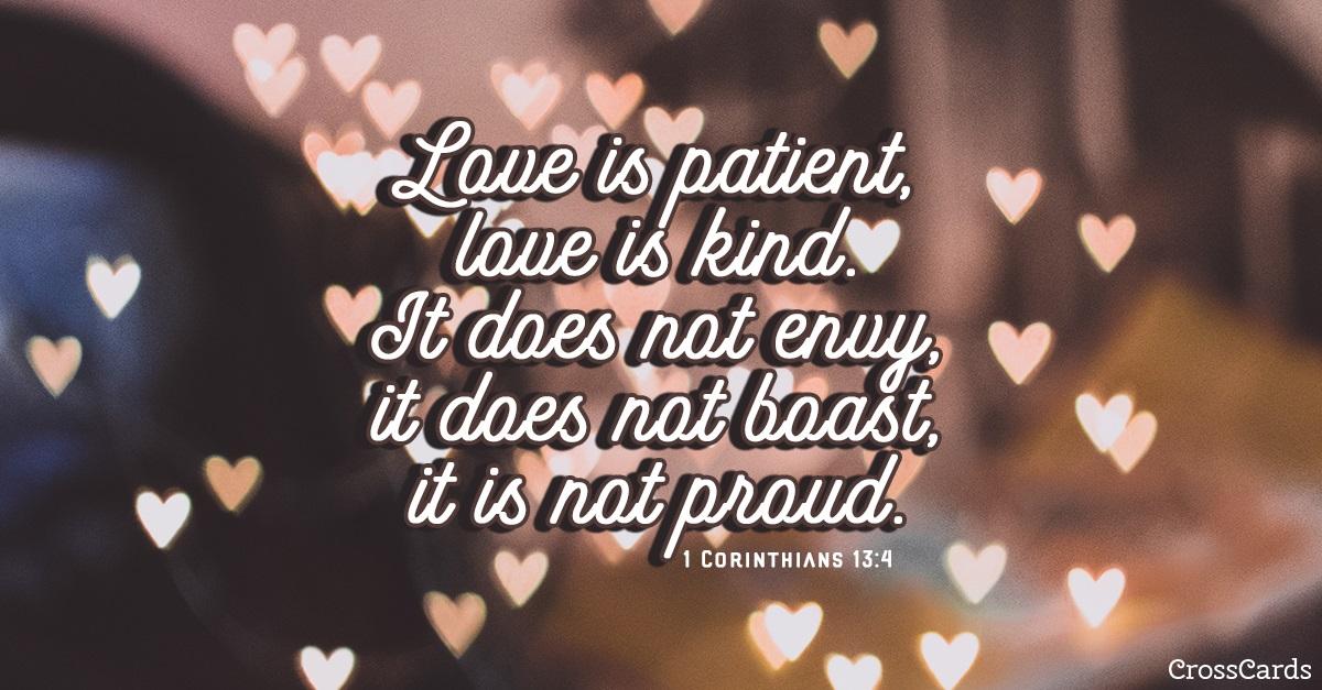 1 Corinthians 13:4 ecard, online card