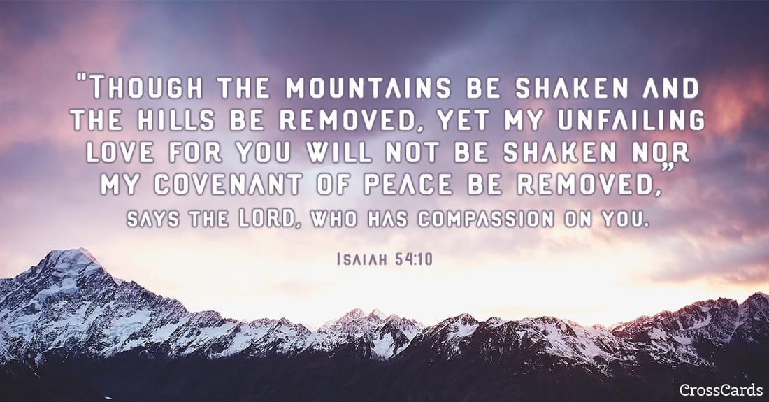 Isaiah 54:10 ecard, online card