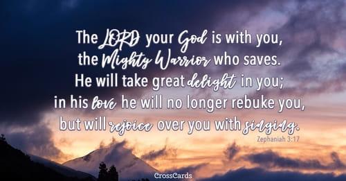 Zephaniah 3:17 Inspirational Images