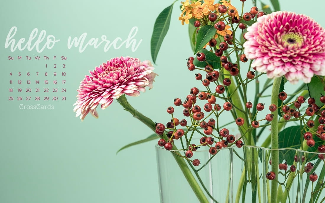 March 2018 - Hello March mobile phone wallpaper