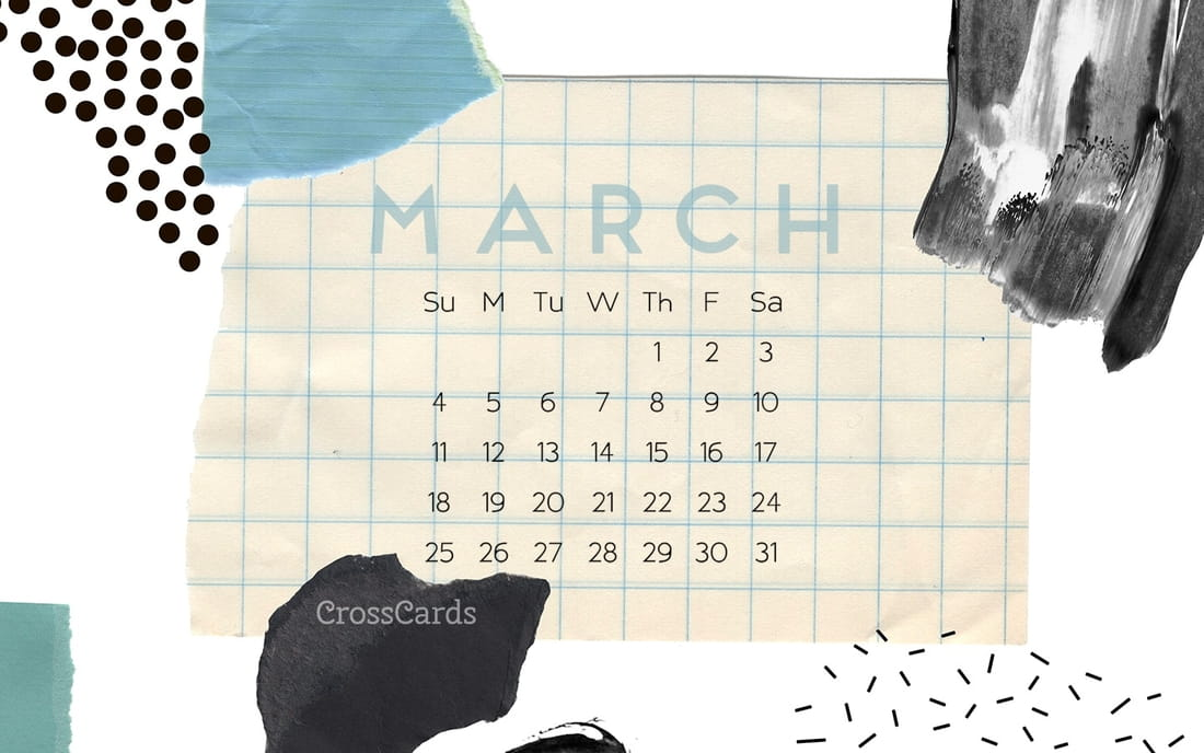 March 2018 - Collage mobile phone wallpaper