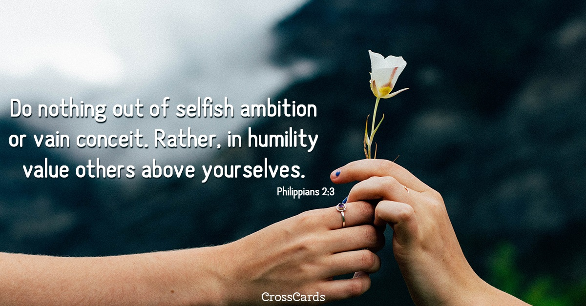 Philippians 2:3 ecard, online card
