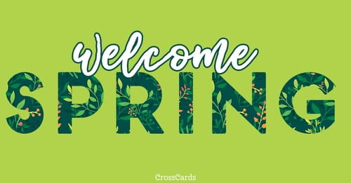 Welcome Spring ecard, online card