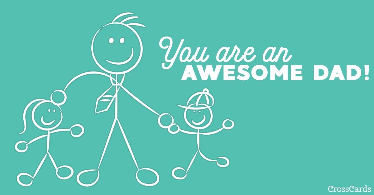 Awesome Dad ecard, online card
