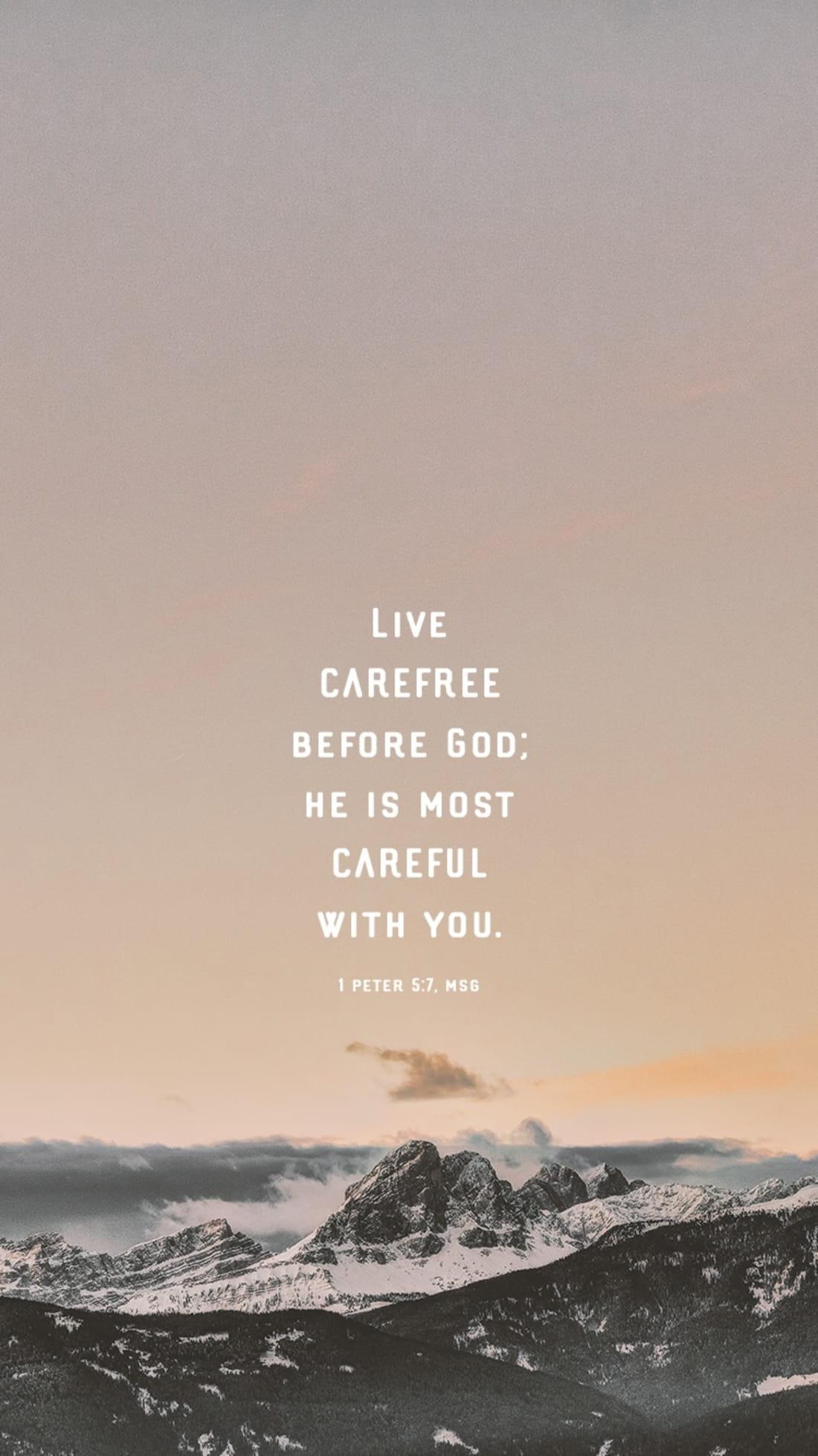 1 Peter 5:7, MSG ecard, online card