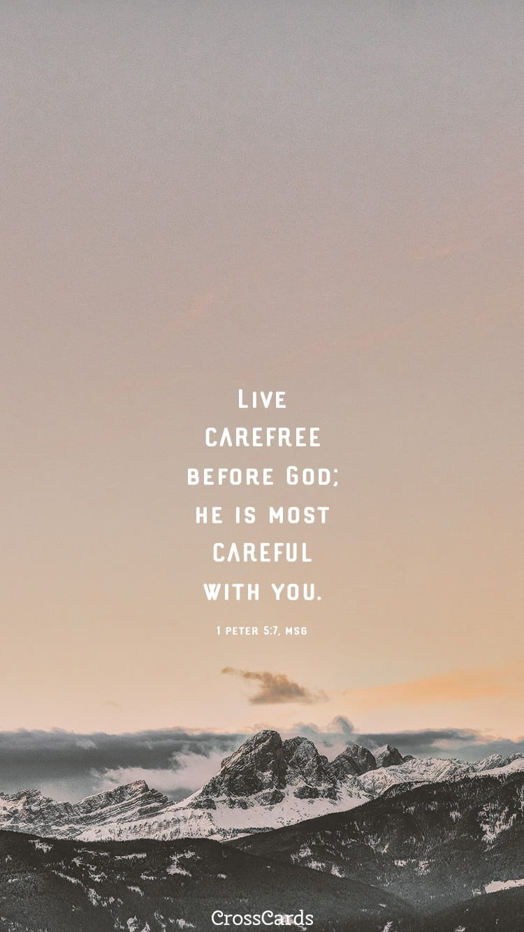 1 Peter 5 7 Msg Phone Wallpaper And Mobile Background