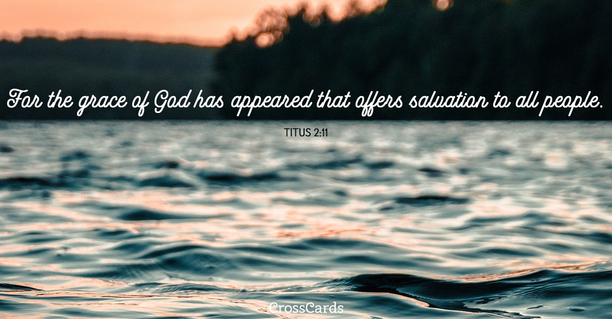 Titus 2:11 ecard, online card