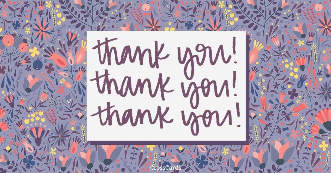 Thank You, Thank You, Thank You ecard, online card