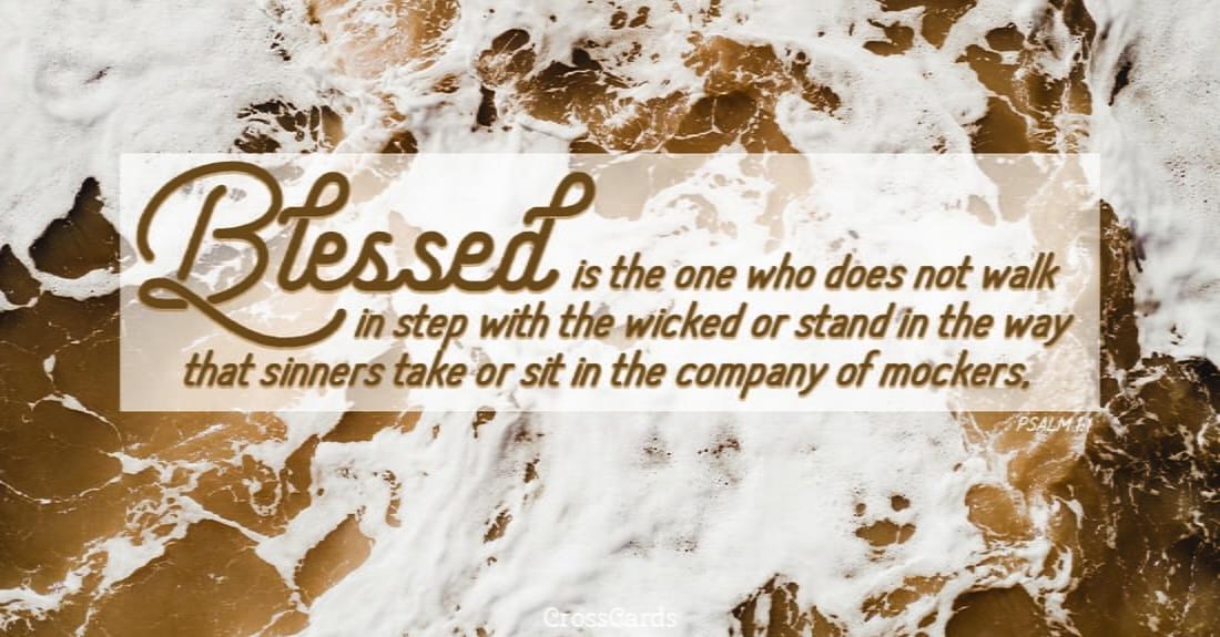 Psalm 1:1 ecard, online card