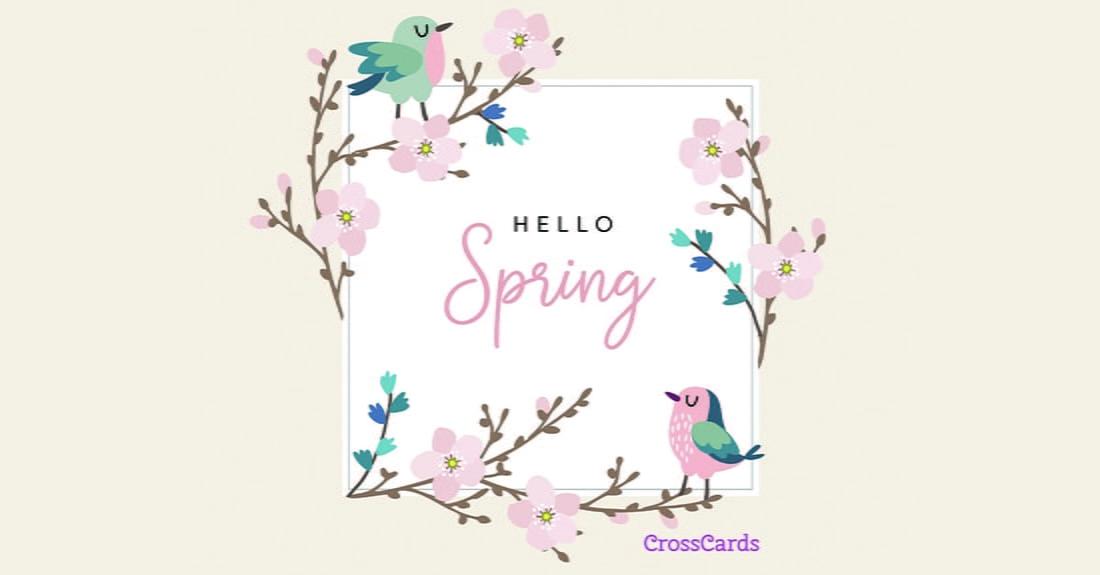 Hello Spring ecard, online card