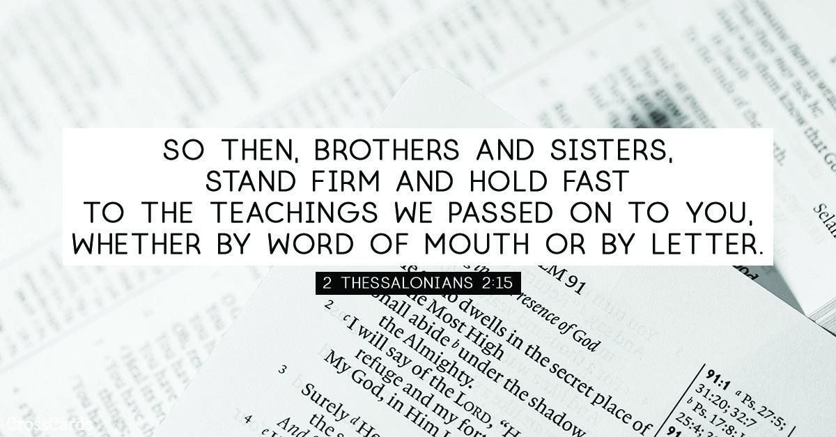 2 Thessalonians 2:15 ecard, online card