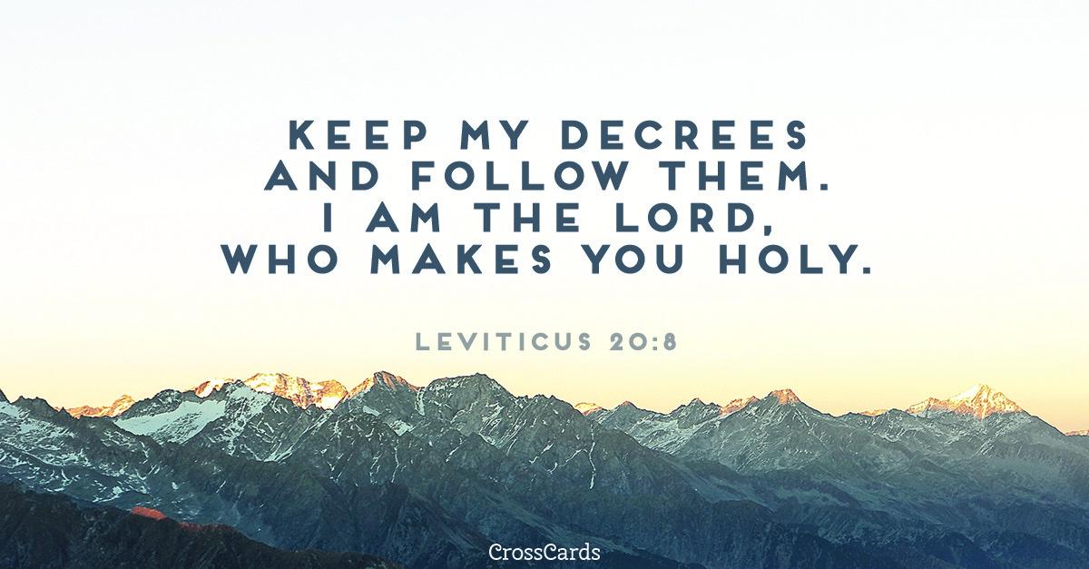 Leviticus 20:8 ecard, online card