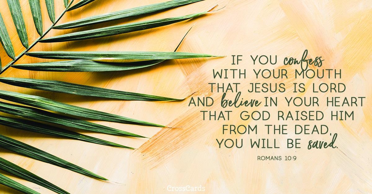 Romans 10:9 ecard, online card